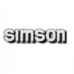 Aufkleber / Klebefolie - simson - für Tank - weiß / schwarz / silber - S51, S70