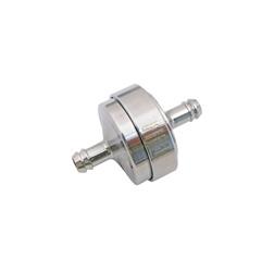 Benzinfilter - Alu chrom eloxiert - 6mm Schlauchanschluss - auswaschbar