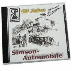 """CD,  SIMSON Automobile """"""""Der fast vergessene Oldtimer"""""""" (Entwicklung SIMSON-Automobile 1911-193"