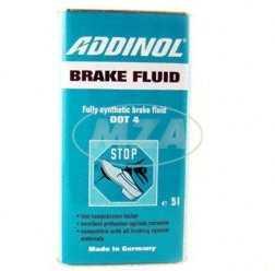 ADDINOL BRAKE FLUID DOT4 (auch DOT3), Bremsflüssigkeit, vollsynthetisch, 5 L Kanister