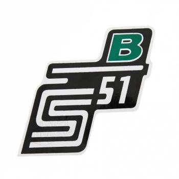 Aufkleber / Klebefolie Seitendeckel - S51B - grün