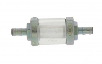 Benzinfilter - massive  Metallausführung - 6mm Schlauchanschluss