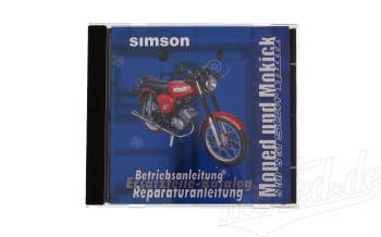 CD,  SIMSON Moped und Mokick ORIGINALDOKUMENTE  (Reparaturanleitungen, Ersatzteilkataloge, Betriebsa
