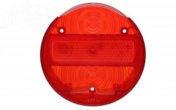 Rücklichtkappe für Bremsschlußleuchte ø 120 mm - rot - 3 Schrauben - mit Kennzeichenbeleuchtung
