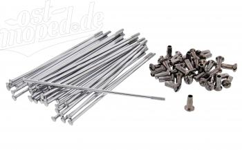 Speichensatz m. Nippel (36 Stück) M4 - 148mm, (Cu/Ni/Cr)     ETZ/TS 125,150,250,250/1