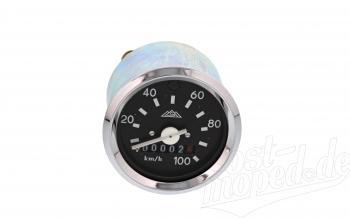 Tacho mit Chromring und Blinkkontrolle - bis 100 km/h - S51, S53