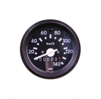 Tuning Tacho mit schwarzem Ring und Blinkkontrolle - bis 140 km/h - S51, S53