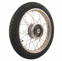 Komplettrad 1,6x16 Zoll Edelstahl mit Reifen Heidenau K36/1 - Simson