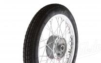 Komplettrad 1,5x16 Zoll Alufelge mit Chromspeichen mit Reifen Heidenau K30 - Simson