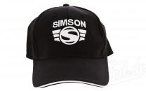 Basecap-schwarz mit 3-D SIMSON-LOGO