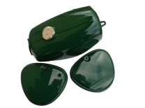 Set Tank und Seitendeckel - Enduro - S51E & S70E - grün