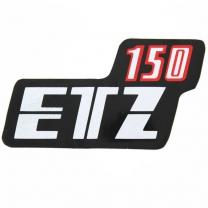 Klebefolie Seitendeckel, rot/schwarz/weiß ETZ150