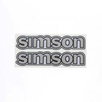Set Aufkleber / Klebefolie - simson - für Tank - silber - S50