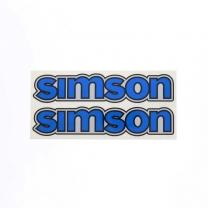Set Aufkleber / Klebefolie - simson - für Tank - blau - S50