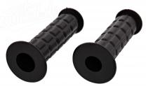 Lenkergummi SET - Waffelmuster - Festgriff-Gummi und Drehgriff-Gummi - schwarz  -  S50, S51, S70, SR