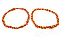 Nabenputzringe WÜMA rot/gelb, SET, vorne u. hinten, passend für MZ-Nabe 232mm, 760mm lang