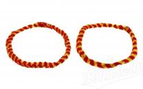 Nabenputzringe WÜMA rot/gelb SET (vorne & hinten)  für SIMSON-Nabe 168mm, 560mm lang