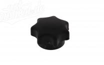 Sterngriffmutter M6, schwarz, lange Ausführung, ohne Druckscheibe, passend für ES, TS, SIMSON