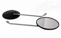 SET 2 Stk. Rückblickspiegel - links & rechts verwendbar - ø125mm - Gewinde M8 - Muschelform