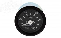 Tacho mit schwarzem Ring und Blinkkontrolle - bis 100 km/h - S51, S53
