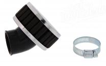 Simson Luftfilter - Tuning - schwarz - 45° abgewinkelt