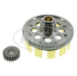Set Tuning Kupplungszahnrad / Ritzel - 72/22 Z - gerade verzahnt  Simson S51, S53, S70, S83, SR50, SR80, KR51/2