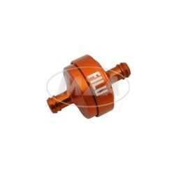 FILU Benzinfilter - Alu orange eloxiert für Benzinschlauch 7x10,5mm