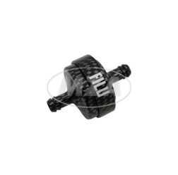 Benzinfilter - Alu carbon eloxiert - 6mm Schlauchanschluss - auswaschbar