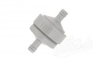 Benzinfilter - Alu silber matt eloxiert - 6mm Schlauchanschluss - auswaschbar