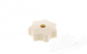Sterngriffmutter M6 - elfenbein - für Motorabdeckung, Haube oder Seitenbleche