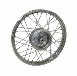 Speichenrad 1,5x16 Zoll Stahl verchromt - Simson