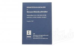 Ersatzteile-Katalog S51, S70, SR50, SR80 und S51/1, S70/1, SR 50/1, SR 80/1 -  Ausgabe 1987