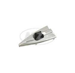 Abdeckkappe für Zündlichtschalter, spitze Form, Aluminium chromeffekt, passend für MZ