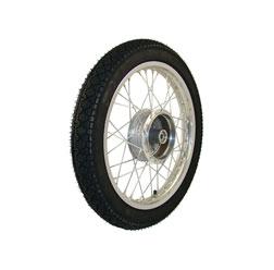 Komplettrad 1,5x16 Zoll Alufelge mit Edelstahlspeichen mit Reifen Heidenau K36/1 - Simson