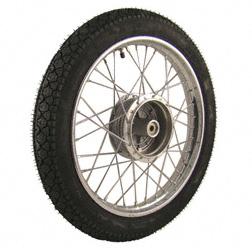 Komplettrad 1,5x16 Zoll Stahl verchromt mit Reifen Heidenau K36/1 - Simson