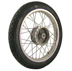 Komplettrad 1,6x16 Zoll Alufelge mit Chromspeichen mit Reifen Heidenau K36/1 - Simson