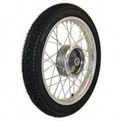 Komplettrad 1,5x16 Zoll Alufelge mit Chromspeichen mit Reifen Heidenau K36/1 - Simson