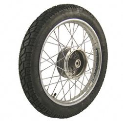 Komplettrad HINTEN 1,5x16 Zoll Stahl verchromt mit Reifen VeeRubber 094 - Simson