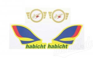 Set Aufkleber / Klebefolie - Simson Habicht SR4-4
