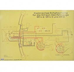 Schaltplan Farbposter (72x50cm) SR4-2, SR4-3, KR51 (beidseitig Glanzcello, schmutzabweisend)
