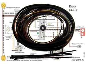 Kabelbaumset Star SR4-2 inkl. Schaltplan