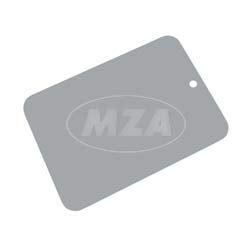 Farbmuster auf Blech Leifalit (Premium) silber für Kotflügel Simson