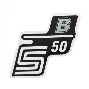 Aufkleber / Klebefolie Seitendeckel - S50B - silber