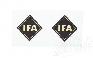 Set Schriftzug - IFA - (2 Stück) Raute