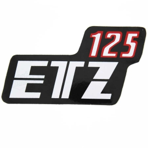 Klebefolie Seitendeckel, rot/schwarz/weiß ETZ125