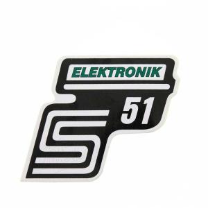 Aufkleber / Klebefolie Seitendeckel - S51 Elektronik - grün