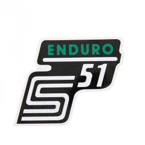 Aufkleber / Klebefolie Seitendeckel - S51 Enduro - grün