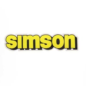 Aufkleber / Klebefolie - simson - für Tank - gelb - S51, S70