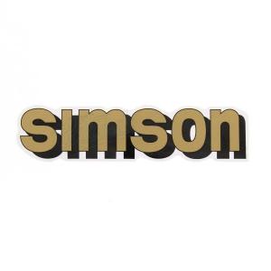 Aufkleber / Klebefolie - simson - für Tank - gold - S51, S70