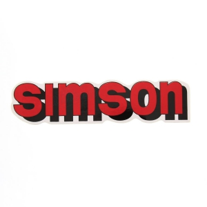 Aufkleber / Klebefolie - simson - für Tank - rot - S51, S70